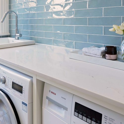 Laundry White Wooden Top